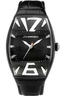 Relógio De Pulso Chronotech High Fashion - Aço Preto - Feminino-Prata+Chumbo