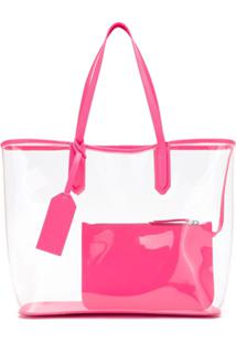 65d23b6b6 Bolsa Rosa Transparente feminina | Shoelover