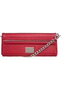 Bolsa Ellus Clutch Correntinhas 42Zw362 Vermelha