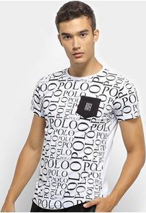 Camiseta Polo Rg 518 Careca Masculina - Masculino-Branco