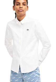 Camisa Lacoste Live Slim Fit Branco