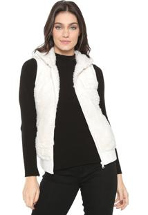Colete Facinelli By Mooncity Pelo Off-White