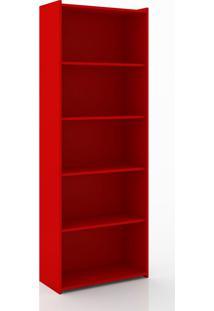 Estante Biblioteca Móvel Bento Vermelho