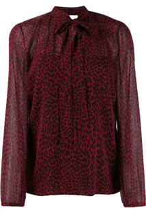Red Valentino Blusa Animal Print - Vermelho
