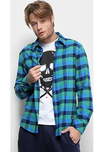 Camisa Xadrez Manga Longa Ellus 2Nd Floor Wool Seattle Masculina - Masculino
