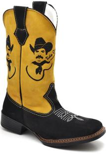 78b844bcc18a3 ... Bota Top Franca Shoes Country Masculino - Masculino-Amarelo