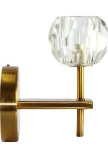Luminaria- Pashmina- Metal E Vidro- Dourado - Kanui