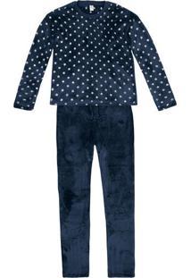 Pijama Feminino Em Fleece Com Estampa Em Foil