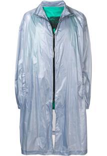 Raf Simons Trench Coat Midi - Azul