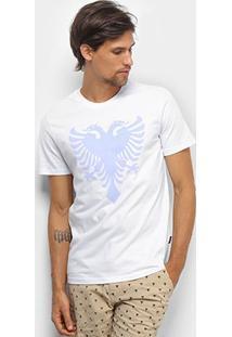 Camiseta Cavalera T Shirt Águia Colors Masculina - Masculino-Branco+Roxo