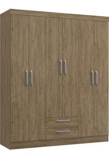 Guarda-Roupa Casal 6 Portas 2 Gavetas Turquesa Decibal Moveis Wood