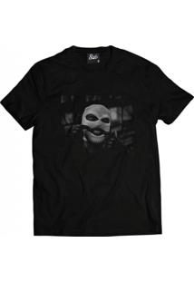 Camiseta Manga Curta Skull Clothing Gangster Preto
