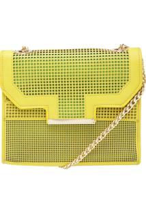 Bolsa Macadamia Textura Amarela