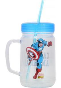 Caneca Pote Capitão América Geek10 - Multicolorido