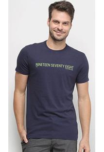 Camiseta Calvin Klein Nineteen Seventy Eight Masculina - Masculino-Marinho