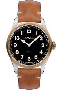 96ca3e3b84b ... Relógio Montblanc Masculino Couro Marrom - 117833