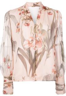 Elie Tahari Blusa Com Estampa Floral - Rosa