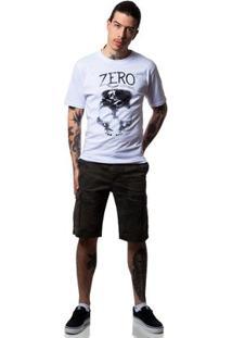 Camiseta Zero Grind Masculina - Masculino-Branco