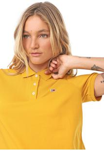 Camisa Polo Tommy Jeans Classic Amarela