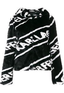 Karl Lagerfeld Jaqueta Com Logo - Preto