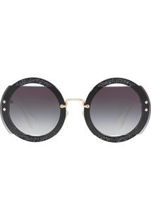fd6f7f3b9 Sunglass Hut. Óculos De Sol Feminino Azul Mu Miu 06ss