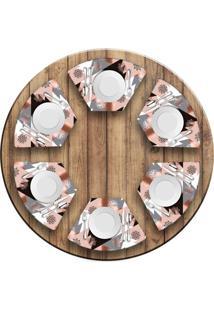Jogo Americano Love Decor Para Mesa Redonda Wevans Modern Christmas Kit Com 6 Pçs - Kanui