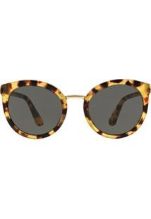 Óculos De Sol Dolce & Gabbana Redondo Dg4268 Feminino - Feminino