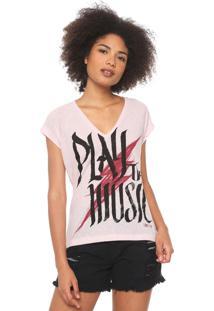 Camiseta Coca-Cola Jeans Music Rosa