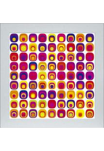 Quadro 65892 Abstrato 33X33 Cm Branco