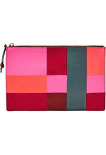 Carteira Fossil Feminina Pouch Patchwork Colorida