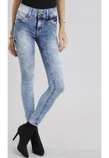 CEA. Calça Algodão Elastano Jeans Poliester Decorativo Zíper Skinny ... 564cb379baa