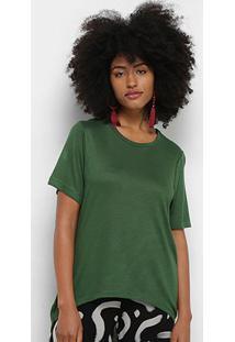Blusa Cantão Tricot Viscose Feminina - Feminino-Verde Limão
