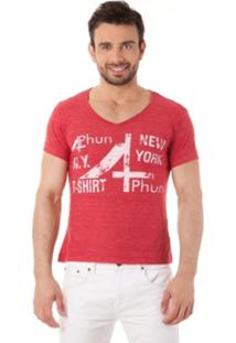 Camiseta 4Phun New York Bordô