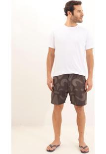 Shorts Dudalina D'Água Big Logo Masculino (Preto, M)