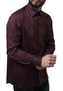 Camisa Manga Longa Urban City Masculina Vinho