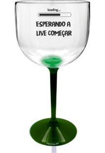 8 Taças Gin Transparente Com Base Verde Personalizada Para Live