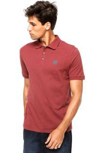 Camisa Polo Calvin Klein Jeans Logo Marrom