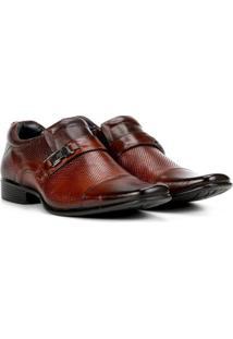 Sapato Social Couro Rafarillo Office Perfuros Masculino - Masculino-Marrom Escuro