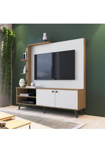 Estante Decibal Es530 Lov-It Tv Até 52 Pol 2 Portas Naturalle/Branco