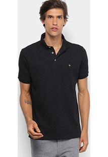 Camisa Polo Foxton Poá Masculina - Masculino-Preto