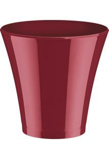 Champanheira Classic Vermelha Marmorizada Poliestireno 4,5 Litros