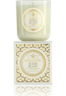 Vela Suede Blanc Coleção Maison Blanc Copo 100 Horas Voluspa