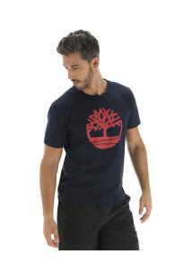 Camiseta Timberland Kennebec Rvr Tree - Masculina - Azul Escuro