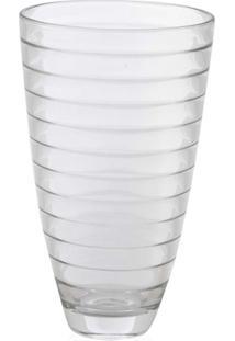 Vaso Em Vidro Transparente Baguette 30Cm