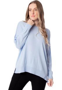 Blusa Feminina Biamar Malharia Ampla Azul Claro - U