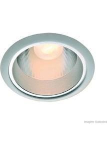 Spot De Embutir 17,8X17,8Cm Para 1 Lâmpada 25W Branco Bronzearte