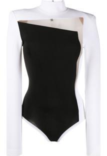 Balmain Body Com Recorte Transparente - Branco