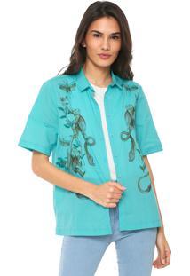 Camisa Colcci Tropical Verde