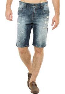 Bermuda Jeans Osmoze Middle Masculina - Masculino-Azul