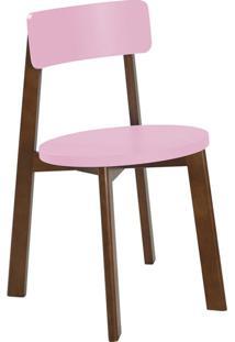 Cadeira De Jantar Lina Cacau E Rosa